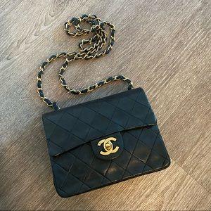 Vintage Chanel classic mini square flap